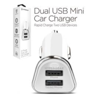 Hypergear Dual USB Mini Car Charger Hvid